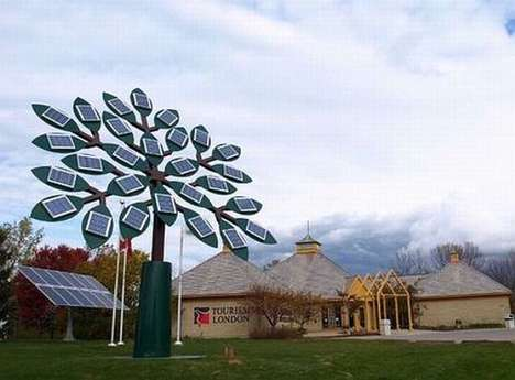 Towering Solar Trees - Tourism London Unveils the World's Tallest Solar Tree