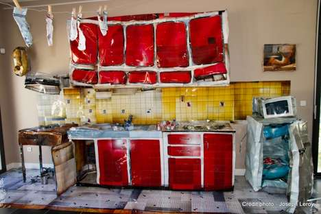 Crumpled Kitchens - Cyril Hatt Shows Us His Wrinkled Works of Art
