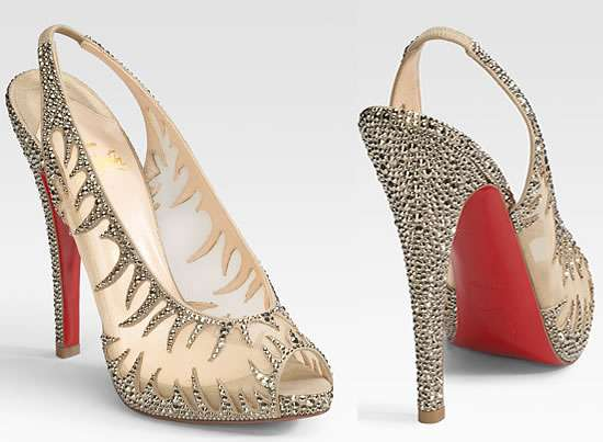 82544a87b59 Sparkly Flaming Pumps : christian louboutin Maralena flame