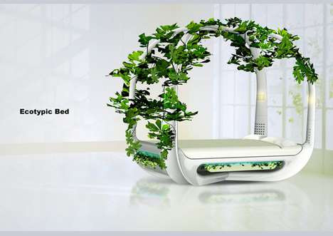 Literal Flower Beds - The Ecotypic Bed Lets You Garden Where You Sleep