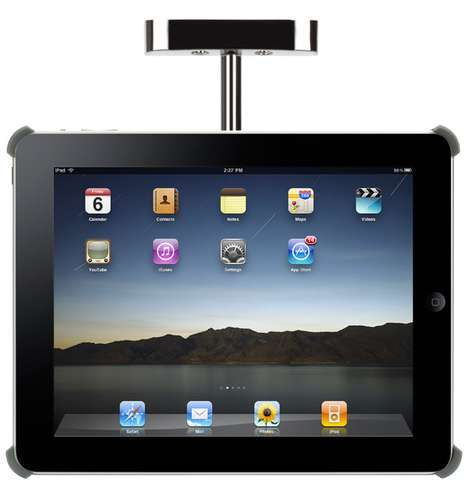Cabinet-Mounted Tablets - The Griffin Cabinet Mount for iPad is for Kitchens, Garages & Bathrooms