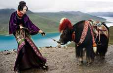 Exotic Explorer Editorials - The 'Seven Days in Tibet' Spread is Saturated in Color and Culture