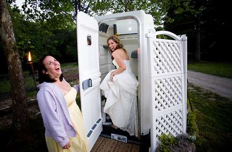 Outdoor Wedding Washrooms