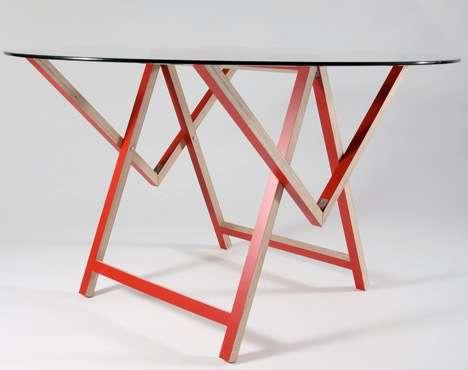 Sawhorse Concertina Tables