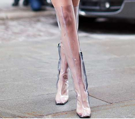 Transparent Puddle Booties