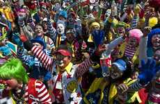 Massive Jester Conventions - Over 10,000 Clowns Gather for Mexico City's Congress of Clowns