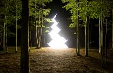 Illuminated Art Installations - The Work of Yochai Matos Shines Its Light on the World