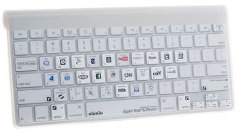 Social Media Shortcuts - The Flashpoint iBoard Apple Bluetooth Keyboard is Certainly Convenient