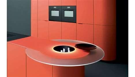 Hi-Tech Tangerine Kitchens