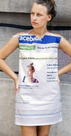 Social Media Frocks - The Facebook Dress is Sure to Get You Poked Anywhere You Go