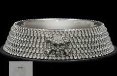 Blingtastic Pet Bowls - The BB Simon Dog Bowl is Studded With All-Over Swarovski Jewels