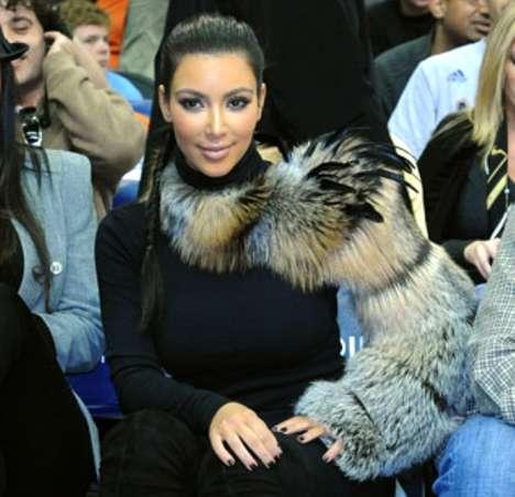 One-Shouldered Fur Shrugs