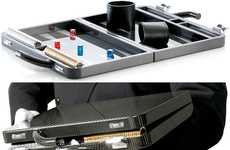 Exorbitantly Expensive Boardgames - The Carbon Fiber Backgammon Set Weighs Only 8 LBs