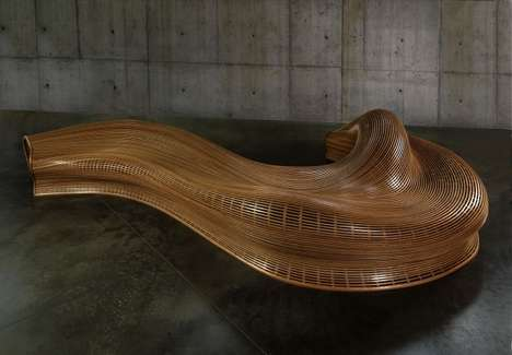 Sinuous Wood Seating