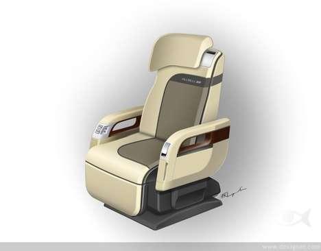 Sleek Business Class Seats