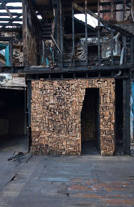 Burned Building Art
