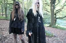 Dark Woodland Photography - The Moni Haworth 'Because Today is Black' Shoot is a Gothic Dream