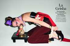 Seductive Geisha Shoots - Terry Richardson Vogue Paris Editorial Shows Sultry Japanese Culture