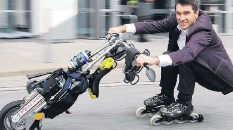 Extreme Stunt Unicycles - FlyRad Unicycle Offers Flexible Riding
