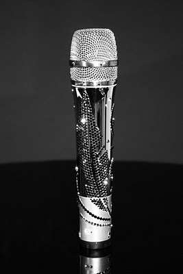 Crystal Studded Microphones