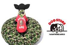Doggie Camo Cushions - The Bape Dog Store Brings Street Fashion to Canines