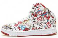 Feline-Friendly Sneakers - Prowl the Streets with the Reebok Hello Kitty PT-20 Shoes