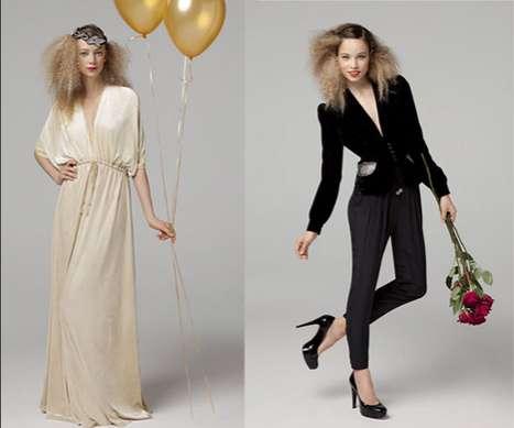 Draping Velvet Fashions
