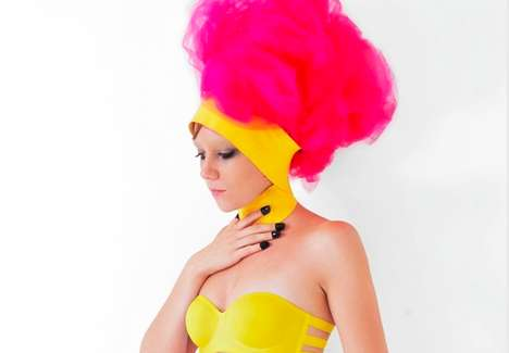 Pink Puff Headpieces