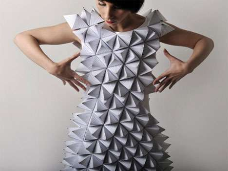 Folded paper fashion is eco-conscious and simple yet glamorous