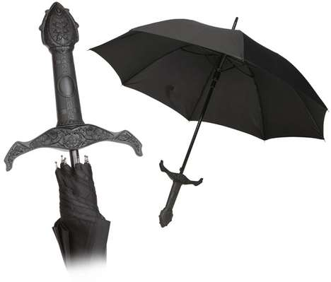 Anti-Rain Weaponry - Knight's Sword Handle Umbrella for Weather-Ready Chivalry