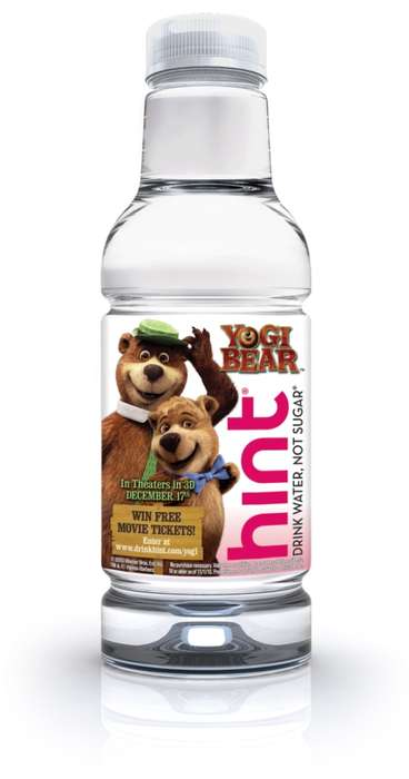 Cartoon H2O Containers - This HINT Water Yogi Bear Bottle is Perfect for Fans of the Fuzzy Mammal