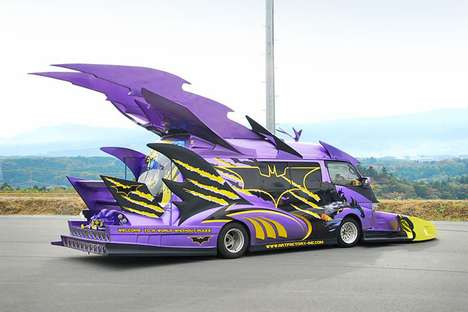 Tricked-Out Batvans - The Japanese Custom Van Show is Creatively Car-Crazy