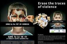 Disturbing Shockvertising - The Romanian Police Child Helpline Billboard for Child Violence