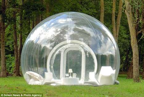 See-Through Luxury Marquees - The Transparent Bubble Tent by Pierre Stephane Dumas