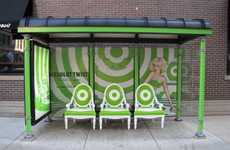 Sophisticated Transit Stops - These Absolut Vodka Bus Shelters Bring Luxury to Everyday Life