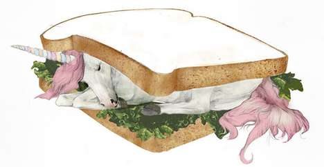Unicorn Sandwich Illustrations