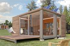 Portable crate like cabins whangapoua sled house for Mobiler wohncontainer holz