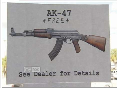 Assault Rifle Auto Deals - A Florida Car Dealer is Giving Free AK-47s to Truck Buyers