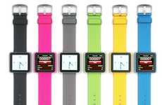 Marvelous MP3 Timepieces  - Strap On Your iPod Nano with the NanoWatch