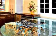 Artistic Glass Kitchens - The Thinkglass Countertops Bring a Unique Aesthetic
