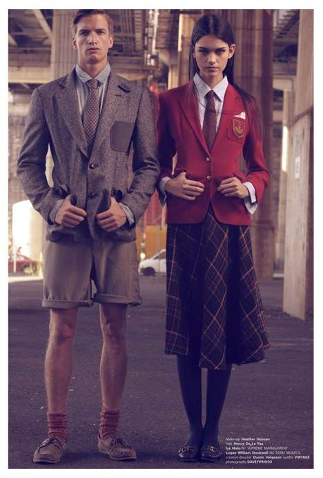 Vintage Varsity Shoots - 'An Education' by DAVEYiPhoto for Creem Magazine is Awesomely Academic