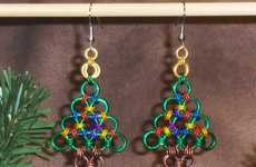 Festive Metal Accessories - 'Tis the Season with the Chainmaille Christmas Tree Earrings