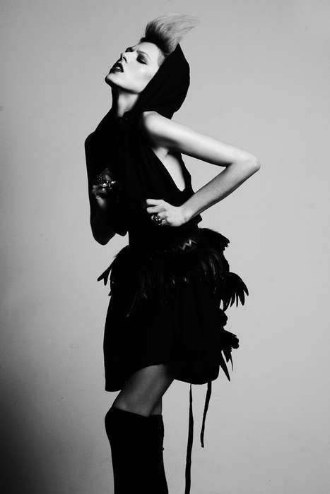 Hooded Bird Dresses - The Damon Baker 'Polly Brown' Brave New Girl Editorial