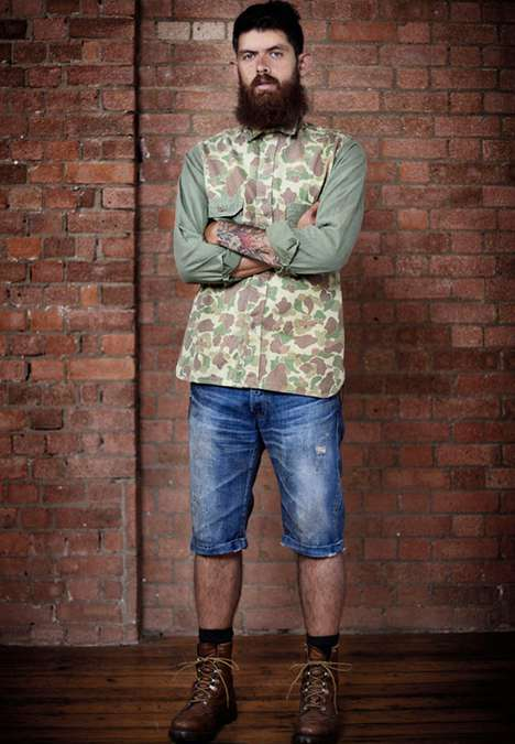 Rugged Mountain Man Lookbooks - The PRPS 2011 Collection Embraces the Rough Side of Fashion