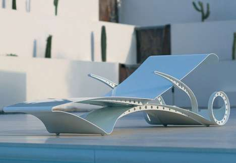 Curvy Poolside Furniture - The D-Lux Sun Lounger is Inspired by the Female Form