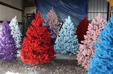 Colorful Christmas Trees - Treetopia has a Tree for Every Color of the Rainbow, and Then Some