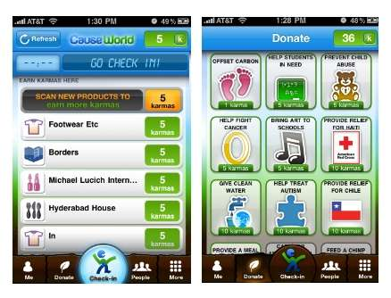 Charitable Location-Based Apps