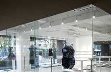 Glassy Couture Boutiques - The Issey Miyake '123 5' Boutique is Gorgeous
