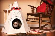 Feline Wigwams - The Cat Tepee Gets Your Cat off of the Couch and into a Place of Its Own