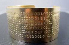 Computer Code Bracelets - The Binary Code Bracelet Lets Your Computer Say What Your Heart Can't